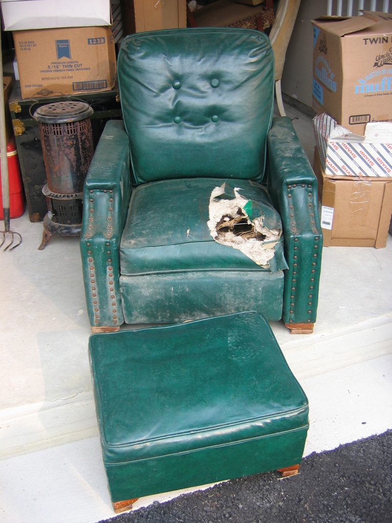 Before & After: Recliner Repair and upholstery repair