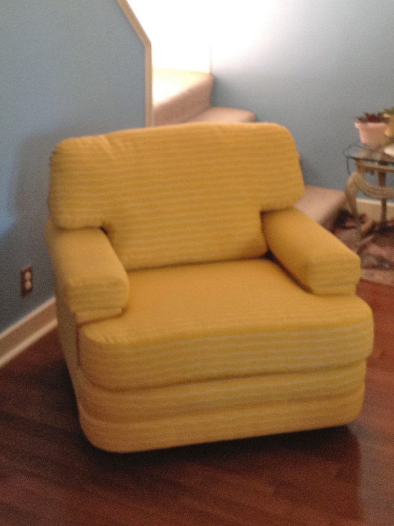 Before & After: Modern Living Room Chair Repair and Restoration